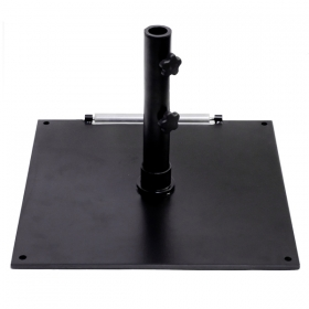 75lb Steel base with wheel BLACK