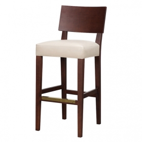 Amber Barstool wood back