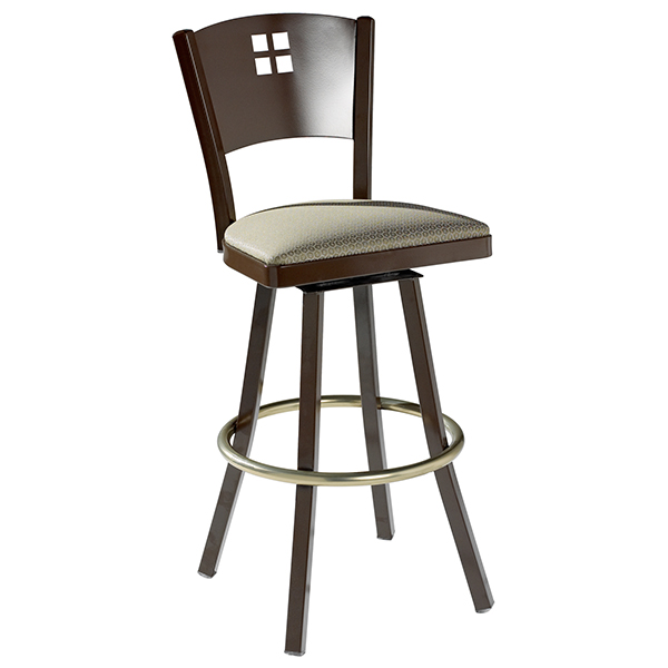 Aviano Barstool Wood Back-swivel