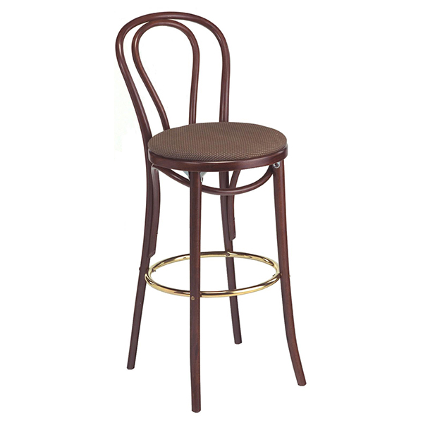 Bentwood barstool uph seat
