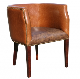 Bocce Lounge Chair Brown