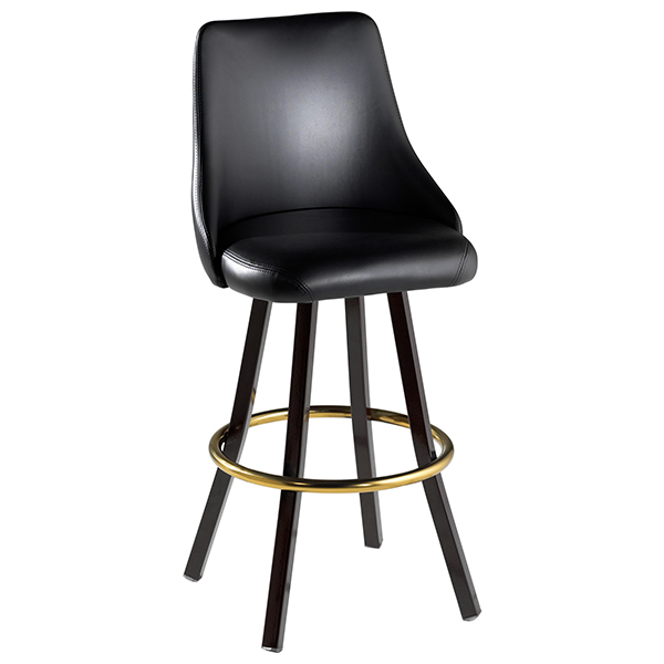 Bucket barstool sloped arm-swivel