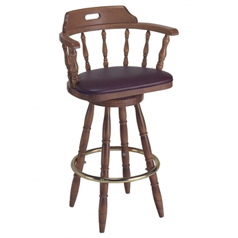 Captain Barstool with arms uph seat