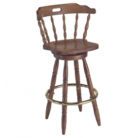 Captain Barstool wood seat
