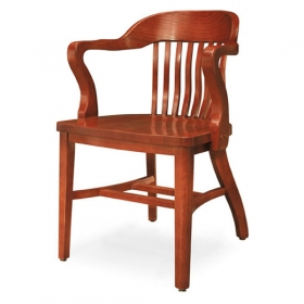 Courthouse AC wood seat