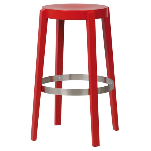 Divio backless barstool wood seat flame