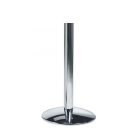 Elegant round base dining height