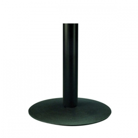 Elegant round black small dining height