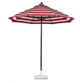 Fiberglass Market Umbrella with BLACK FRAME