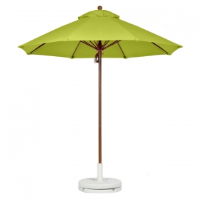 Fiberglass Market Umbrella with FAUX WOOD FRAME