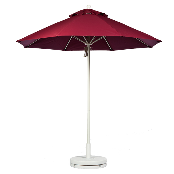 Fiberglass Market Umbrella with WHITE FRAME