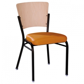 Linz SC Uph Seat & Wood Back