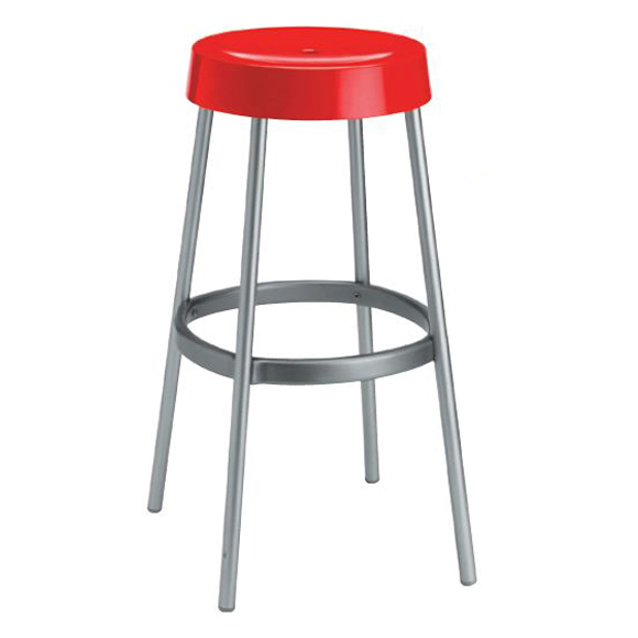 Loop backless barstool Red