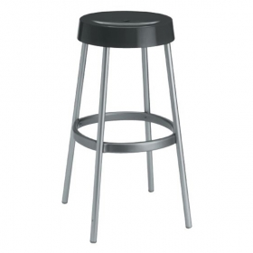 Loop backless barstool black