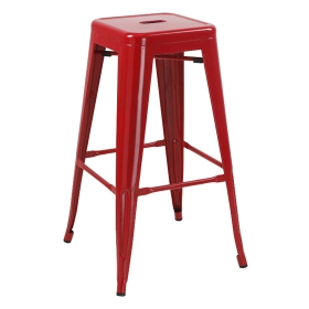 Mantis Backless Barstool Crimson