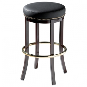 Messina backless barstool with nail trim