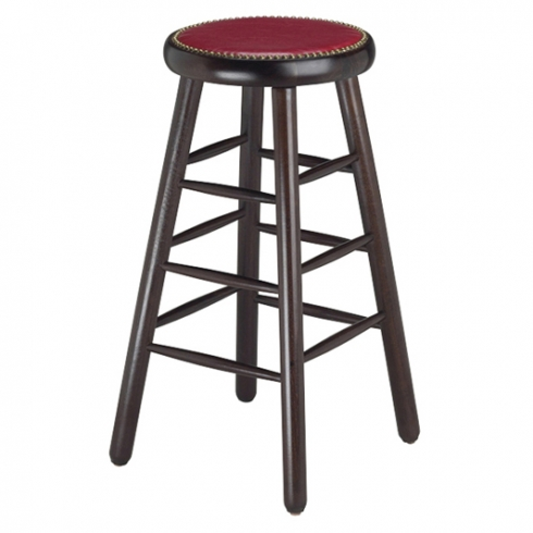 Rachael Backless barstool uph seat with nails