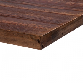 Rustic Patina Pine Skip-Planed -Red finish