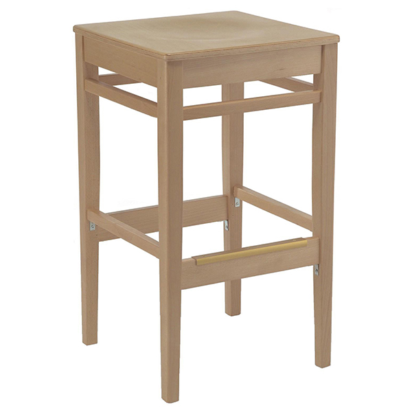 Shelton backless barstool wood seat