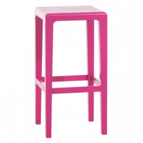 Sofie bear backless counter stool pink