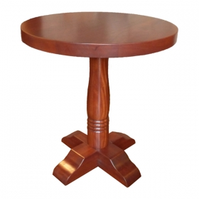 Solid Mahogany Top & Base