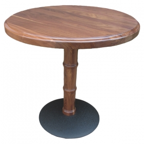 Walnut Top With Walnut Bamboo Base