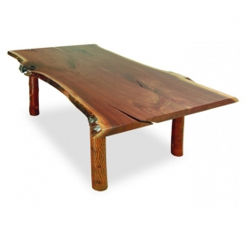 Live Edge Walnut Top Live Edge Dining Table